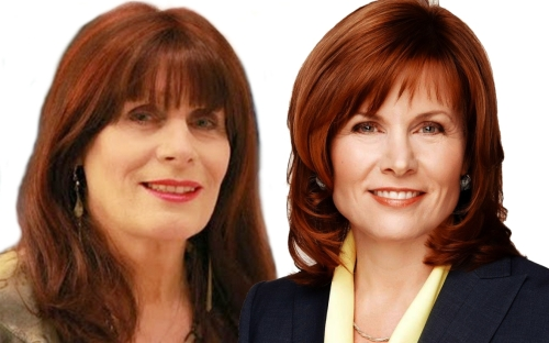 Janet Steward (right) and I: Separated at birth?