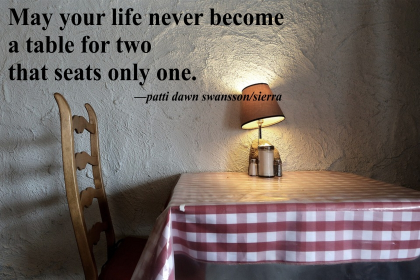 table for two quote
